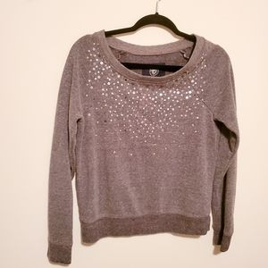 American Eagle gray sweater with sequins sz small